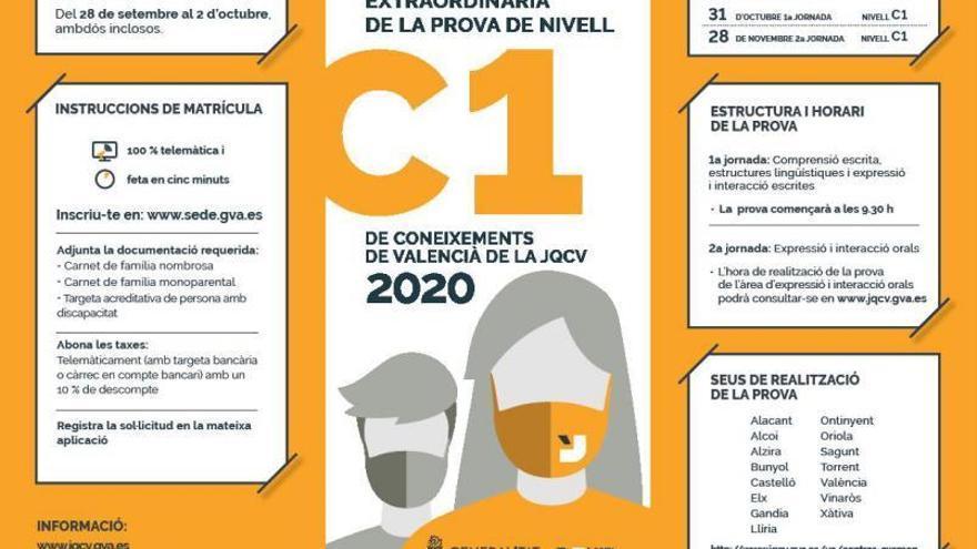 La Junta Qualificadora convoca les proves del nivell C1 amb 11.000 places
