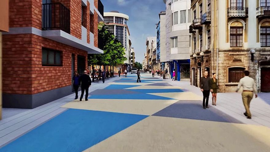 Nueve empresas optan a ejecutar el proyecto de peatonalizaciones de Laviana