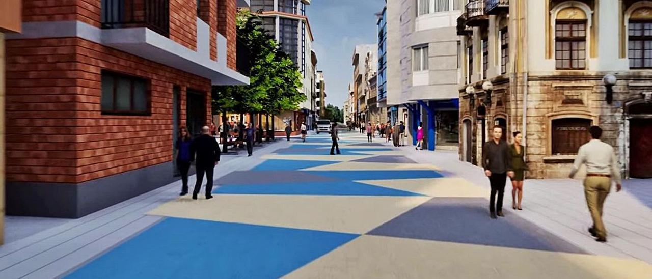 Recreación del aspecto que tendrá la calle Libertad tras las obras.