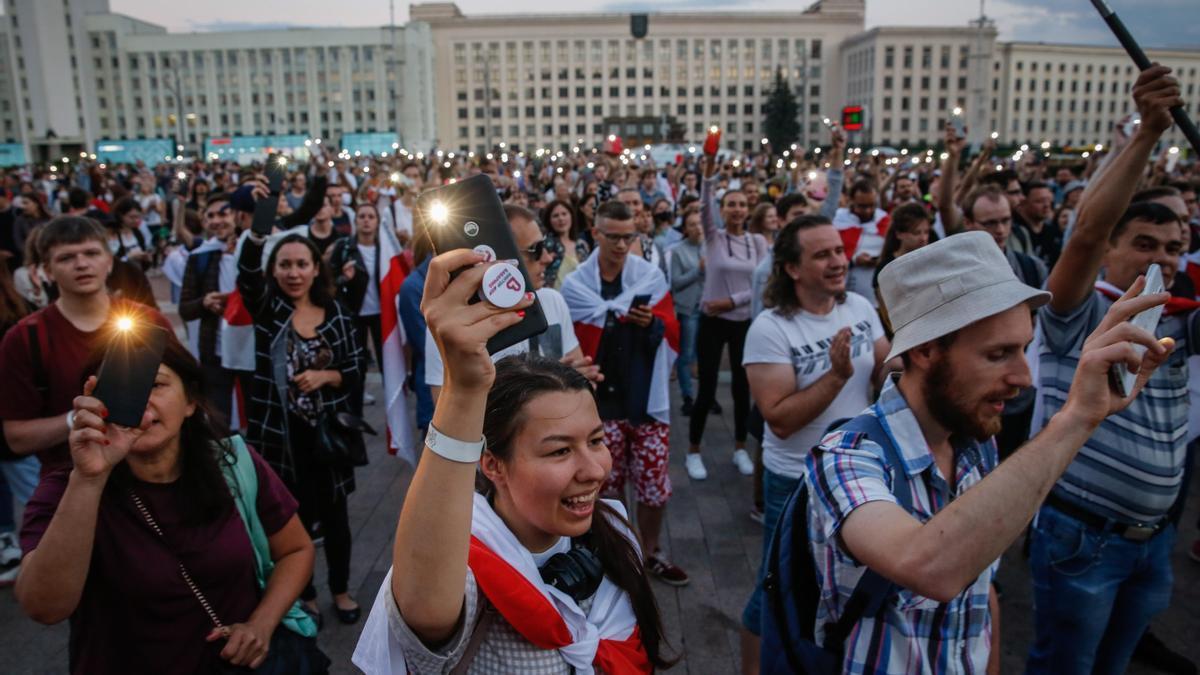 Imagen de las protestas en Bielorrusia