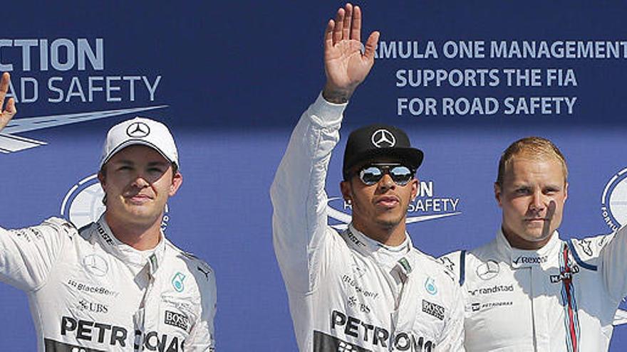 Hamilton le gana a Rosberg el pulso por la 'pole' en Bélgica