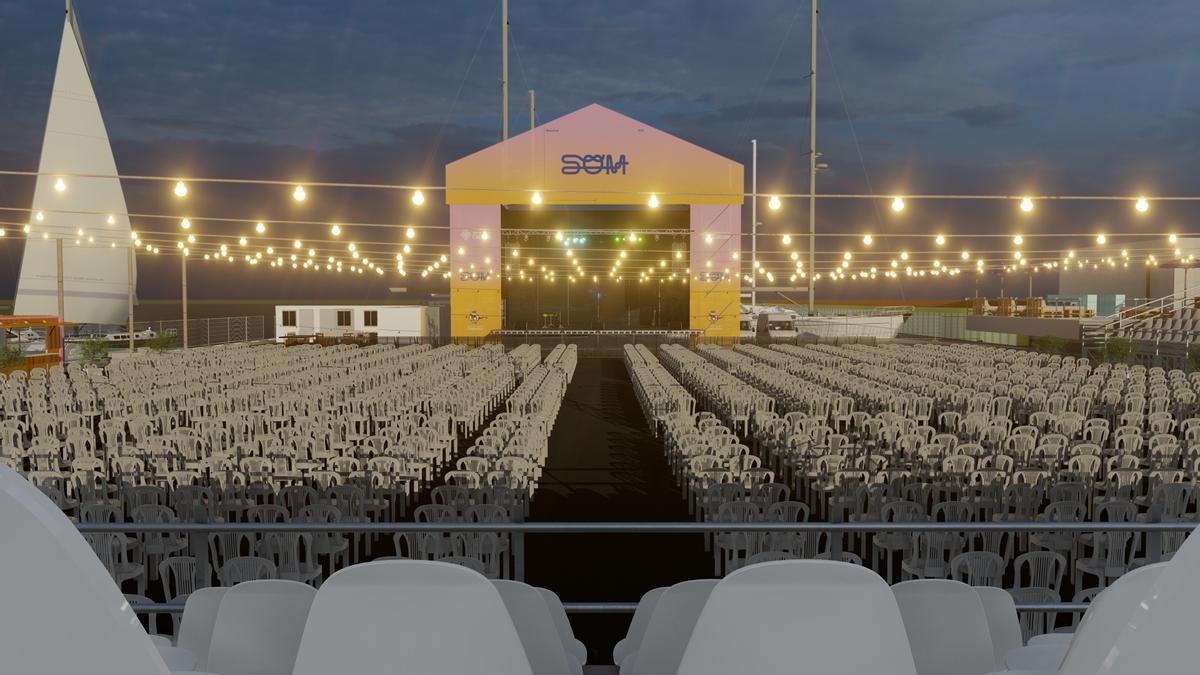Imagen que recrea al espacio del festival Som de Castelló