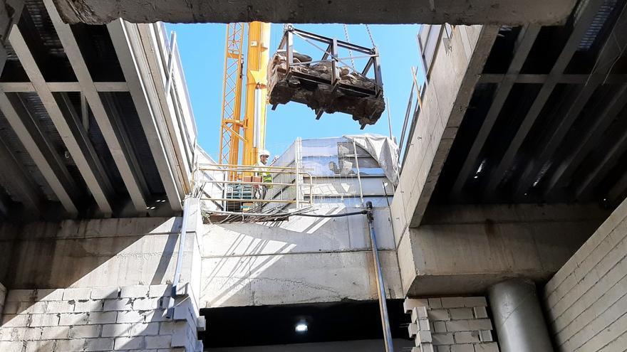 Inician el traslado de los restos arqueológicos de las obras del metro al nuevo museo