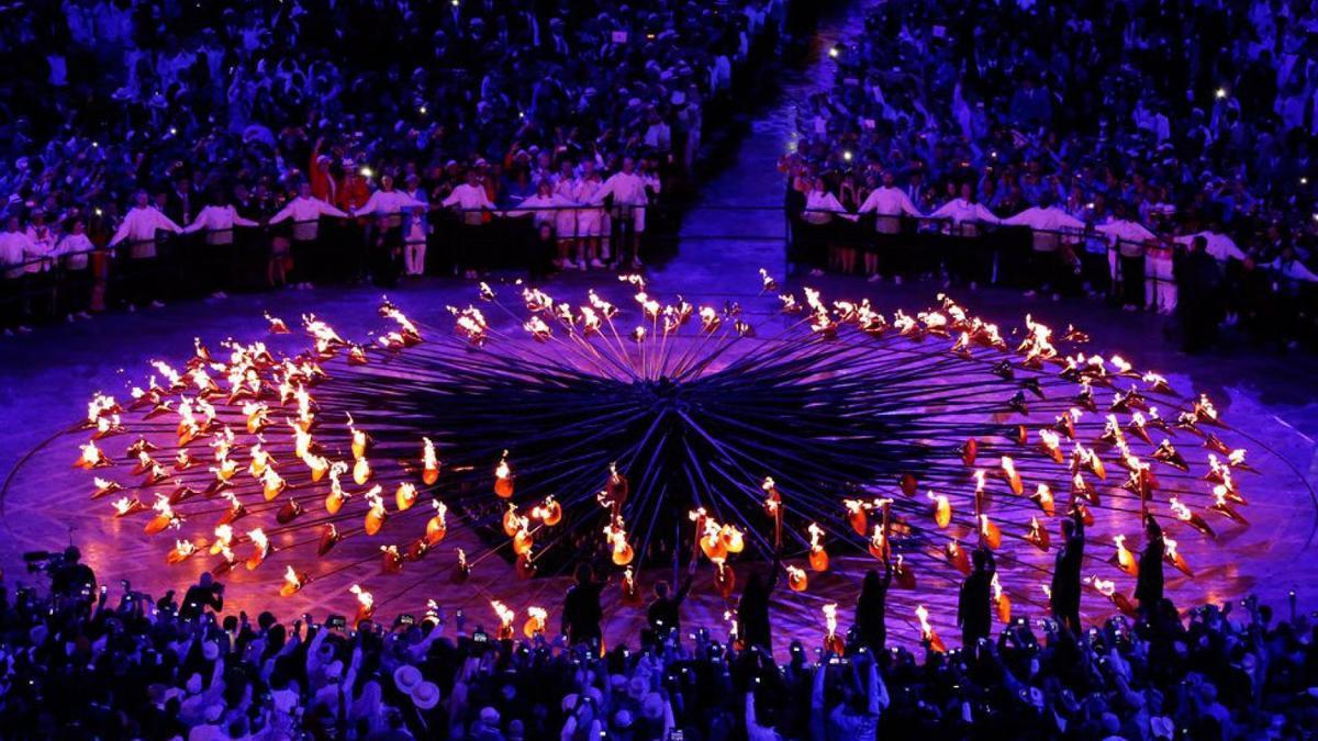 Un momento de la ceremonia de clausura de Londres 2012.