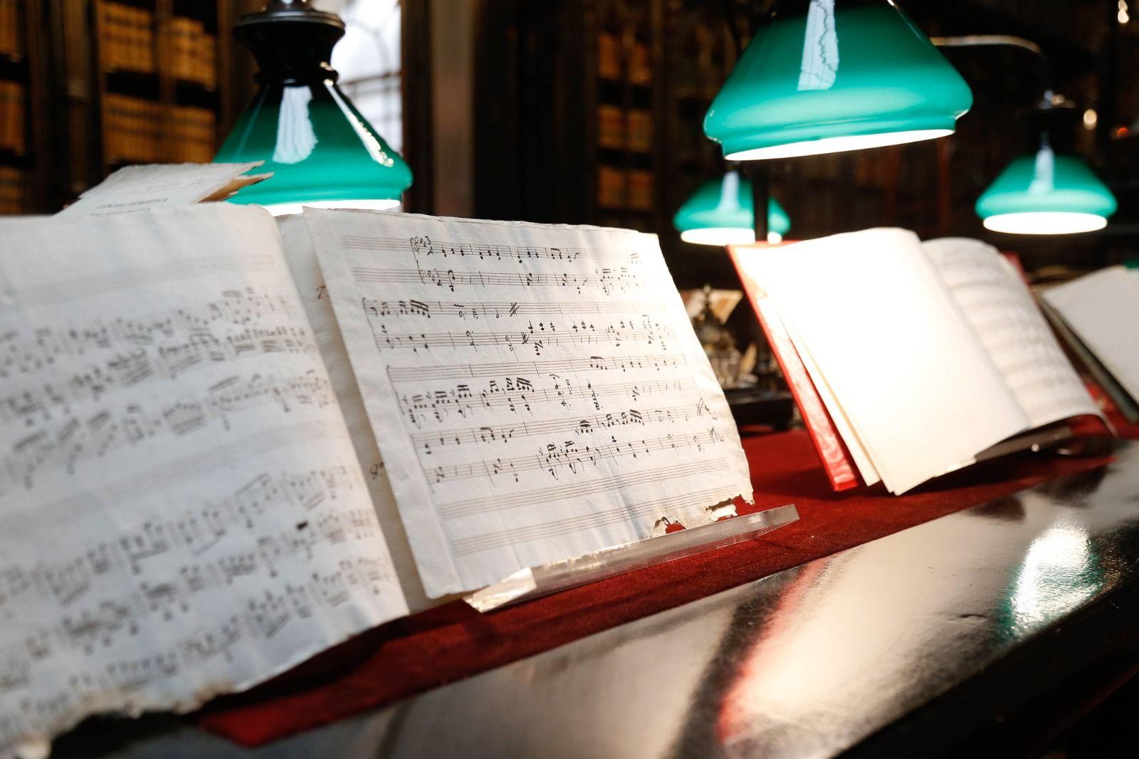 Las partituras interpretadas.
