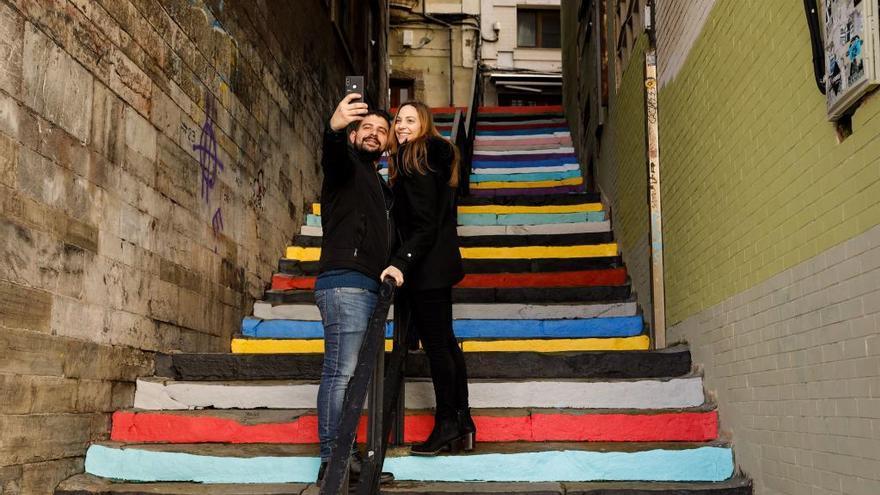 Las escaleras del rock, a todo color