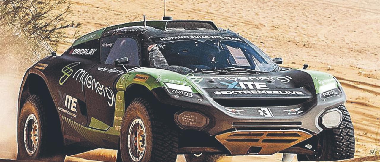 El Odyssey 21 conducido por Christine Giampaoli durante la primera prueba de Extreme-E disputada en Arabia Saudí a principios de abril. | | LP/DLP