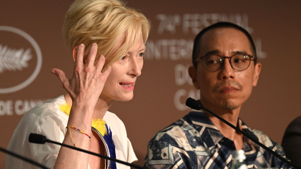 Tilda Swinton, en Cannes