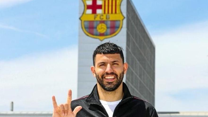 Kun Agüero, el primer fichaje del Barça de Laporta