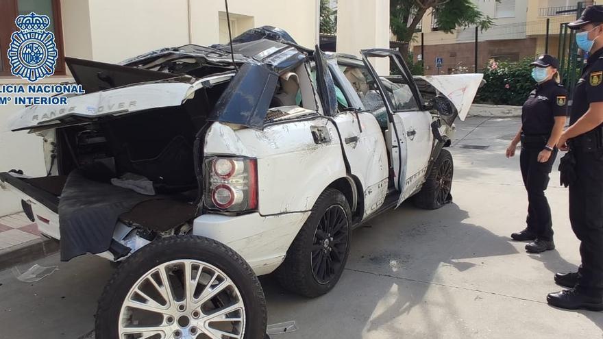 Detenido en Estepona tras perder el control por exceso de velocidad de un coche robado
