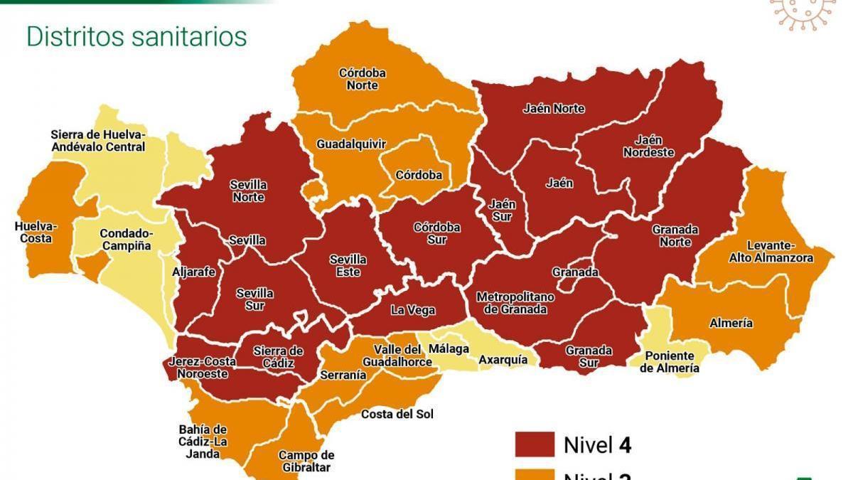 Coronavirus y cierre perimetral en Córdoba y Andalucía: estos son los niveles de alerta sanitaria
