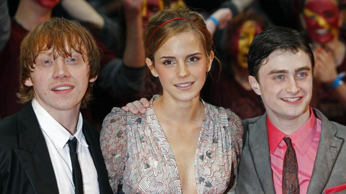 Los tres protagonistas de 'Harry Potter' en una imagen de archivo.
