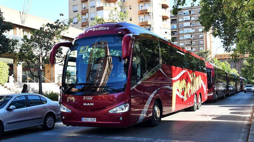 Los autobuses recorren Murcia en el segundo día de huelga