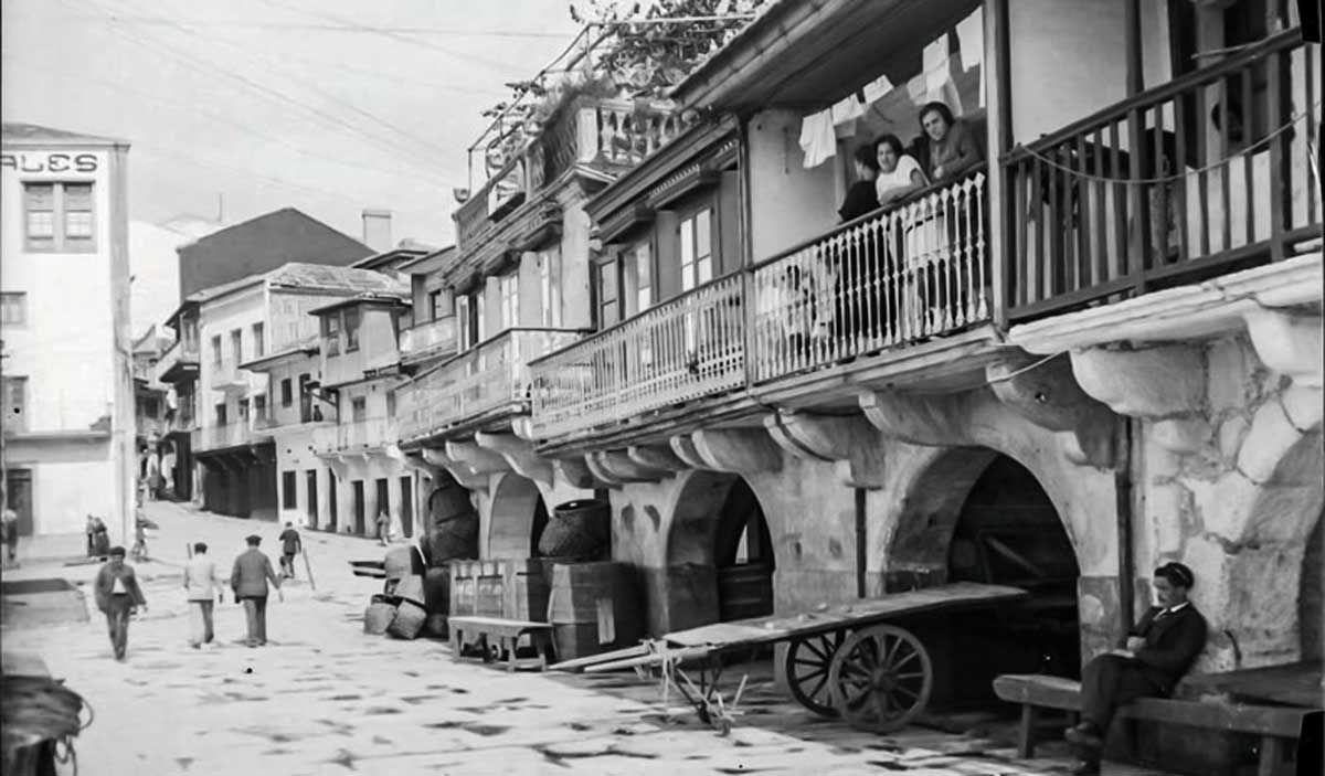 Vigo, casas de los pescadores en torno a 1929 o 30 por Otto Wonderlich IPCE