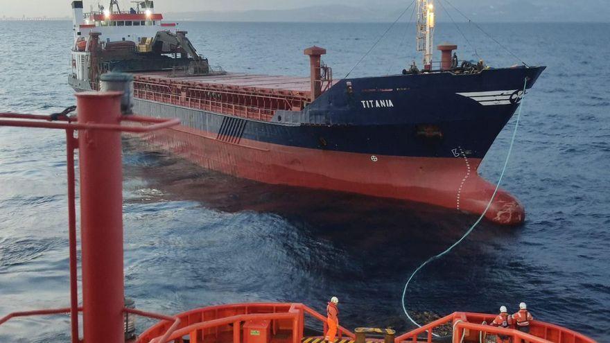 Rescate de un carguero en aguas de Gran Canaria