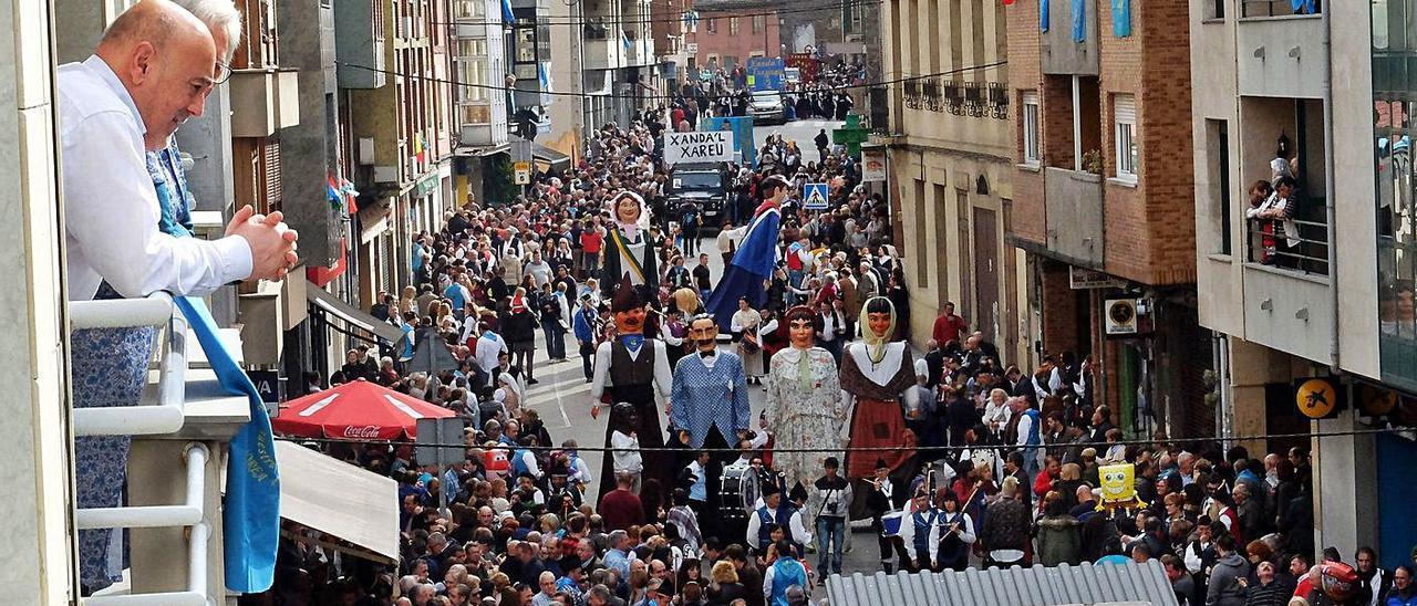 El desfile de San Martín, durante una edición pasada.