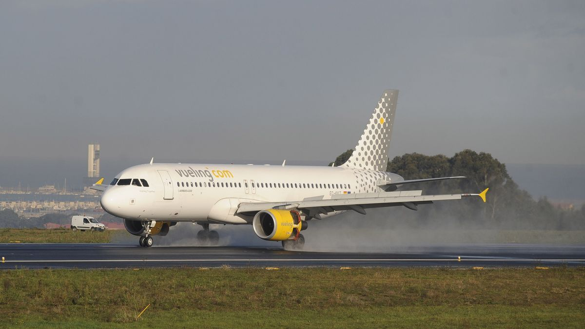 Un avión de la compañía Vueling.