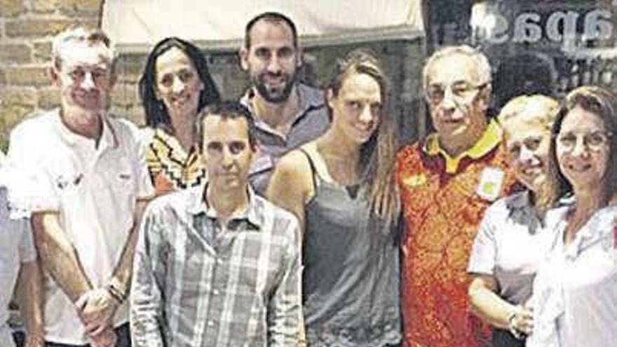 Blanco, el presidente del Comité Olímpico Español, en el descenso del Sella
