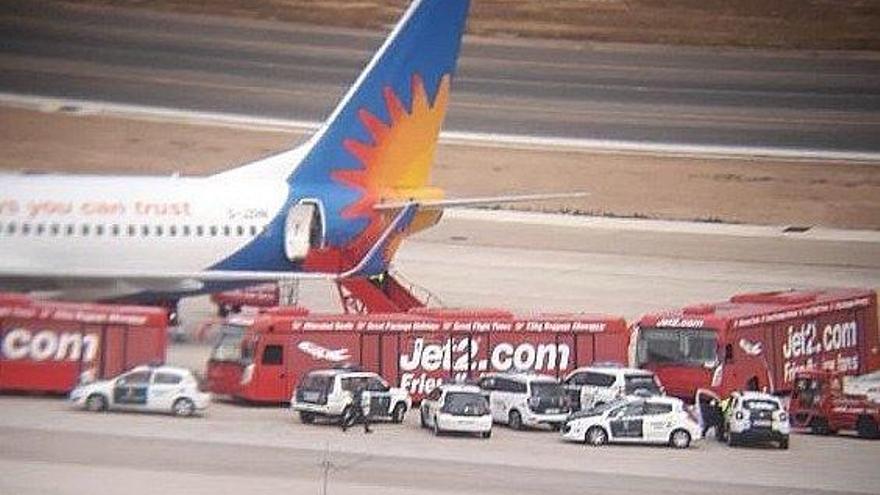 Polizei empfängt betrunkene Passagiere nach Mallorca-Flug