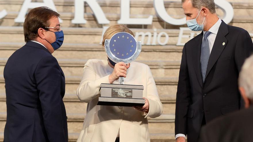 Fotogalería: Entrega del premio Europeo Carlos V a Angela Merkel