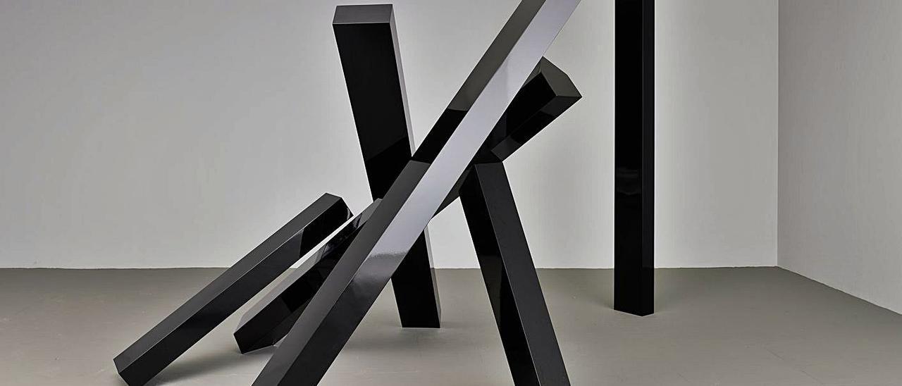 La obra de Herminio que expondrá a partir del 12 de diciembre en la galería Cayón de Madrid.   Marcos Morilla