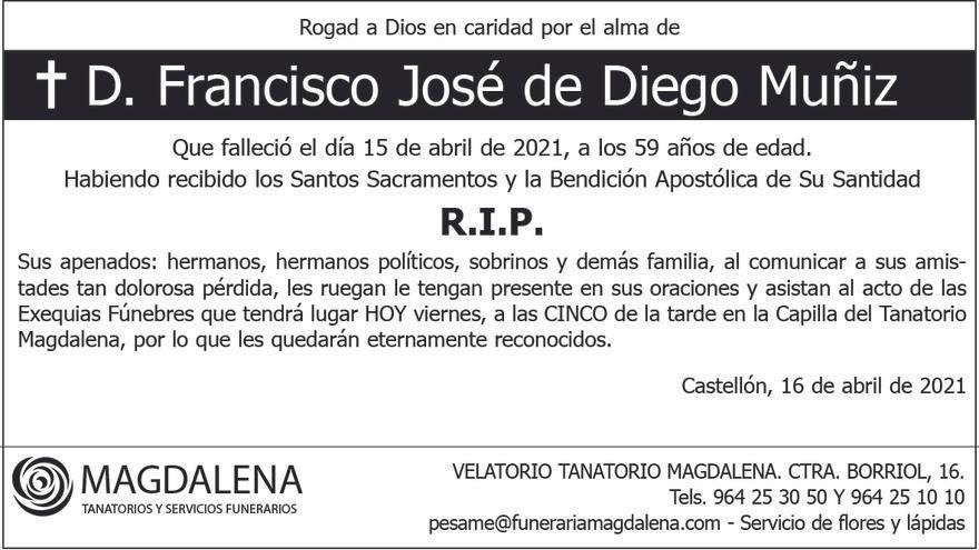 D. Francisco José de Diego Muñiz
