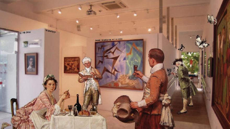Inauguración de una muestra sobre Jorge Rodríguez en Gáldar