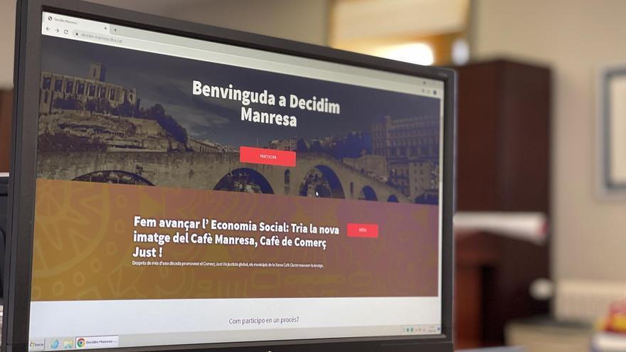 La imatge del cafè de comerç just de Manresa es pot votar fins al 18 de juny