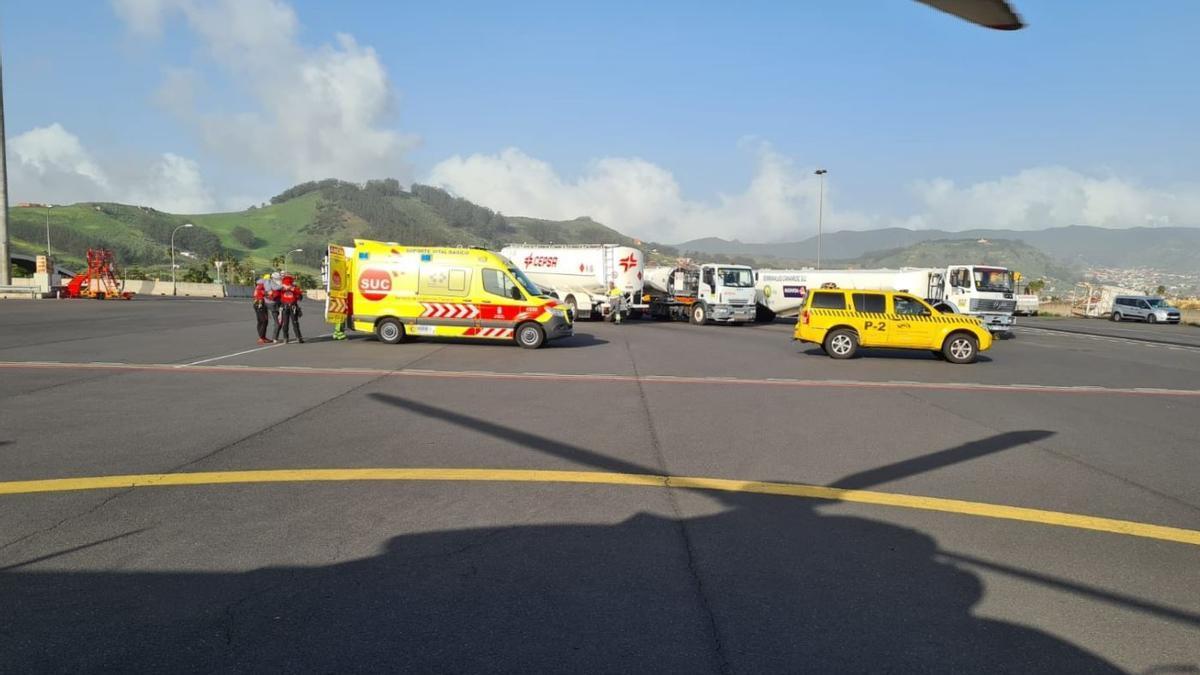 Un escalador resulta herido al sufrir una caída en Tenerife