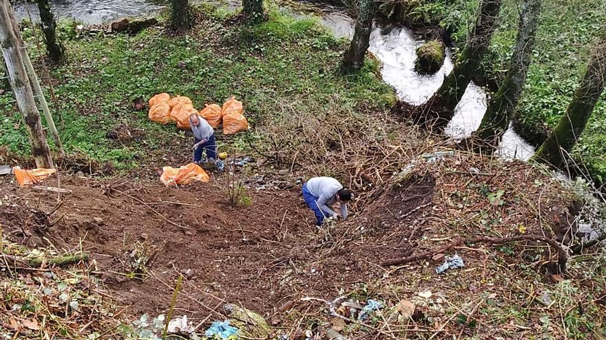 Lalín desbrozó dos centenares de fincas privadas y limpió 49 vertederos incontrolados