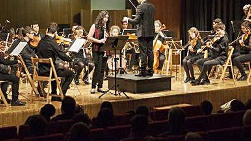 Los músicos de la Joven Orquesta Sinfónica.