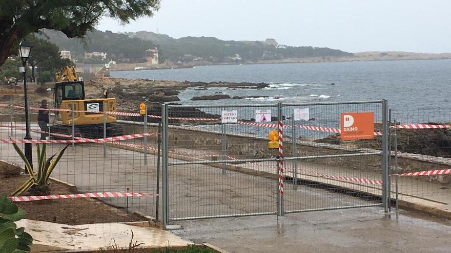 Promenaden-Baustelle ärgert die Gastronomen in Cala Ratjada