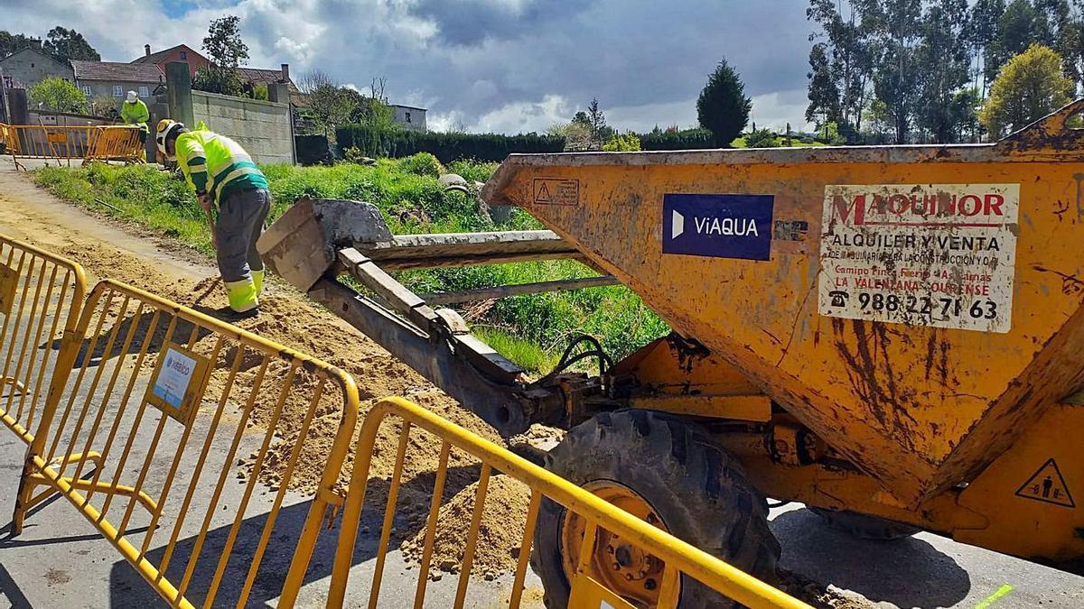 Obras de saneamiento en Alba. |   // FDV