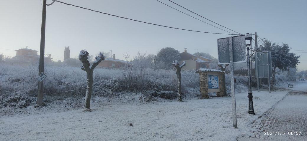 GALERÍA | La nieve también se deja ver en Ricobayo de Alba