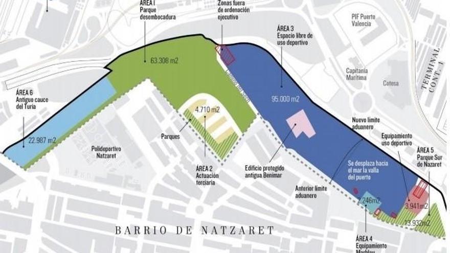 """El puerto cede a la ciudad suelo para """"otro Parque Central"""""""