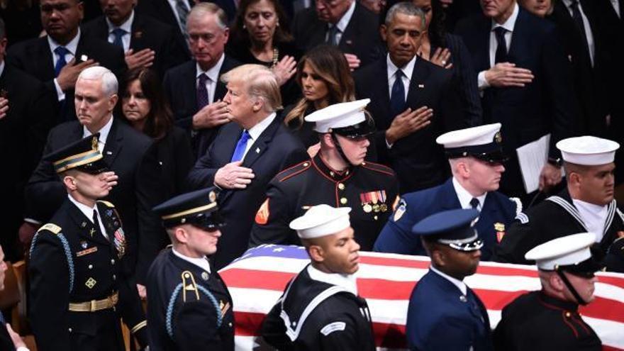 Líderes mundiales despiden a George H.W. Bush en Washington