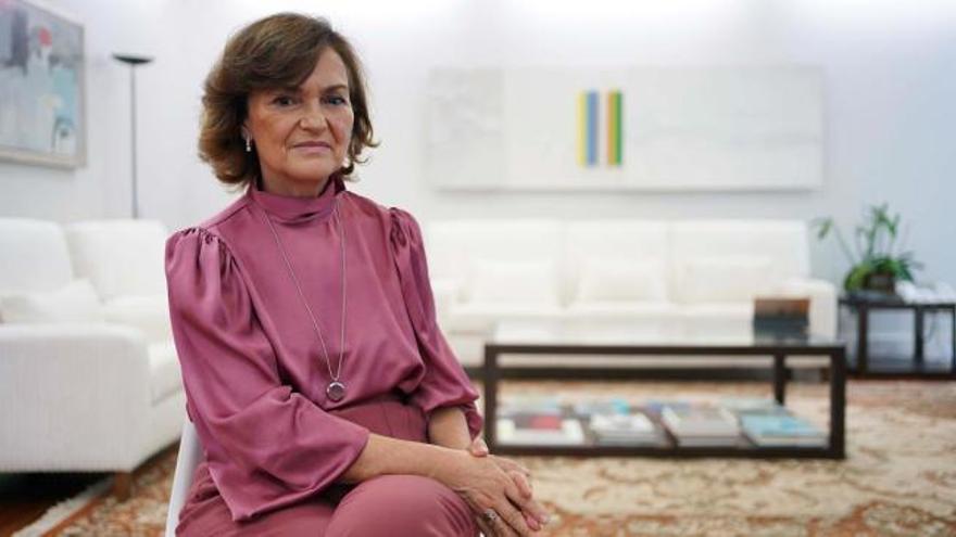 Entrevista a la vicepresidenta primera del Gobierno, Carmen Calvo