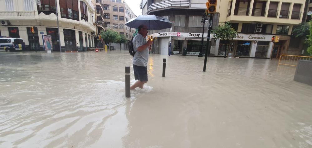 El corazón de Orihuela, inundado