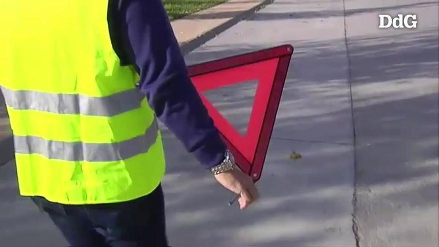 Els llums que substituiran els triangles d'alerta