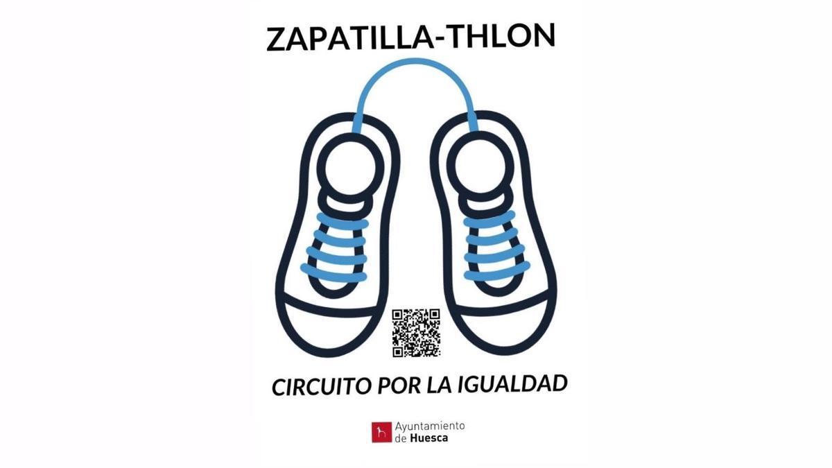 Zapatillathlon, el nuevo circuito urbano deportivo por la igualdad del Ayuntamiento de Huesca.