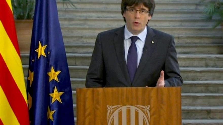 """Puigdemont no se da por cesado y llama a mantener una """"oposición democrática"""" a 155"""