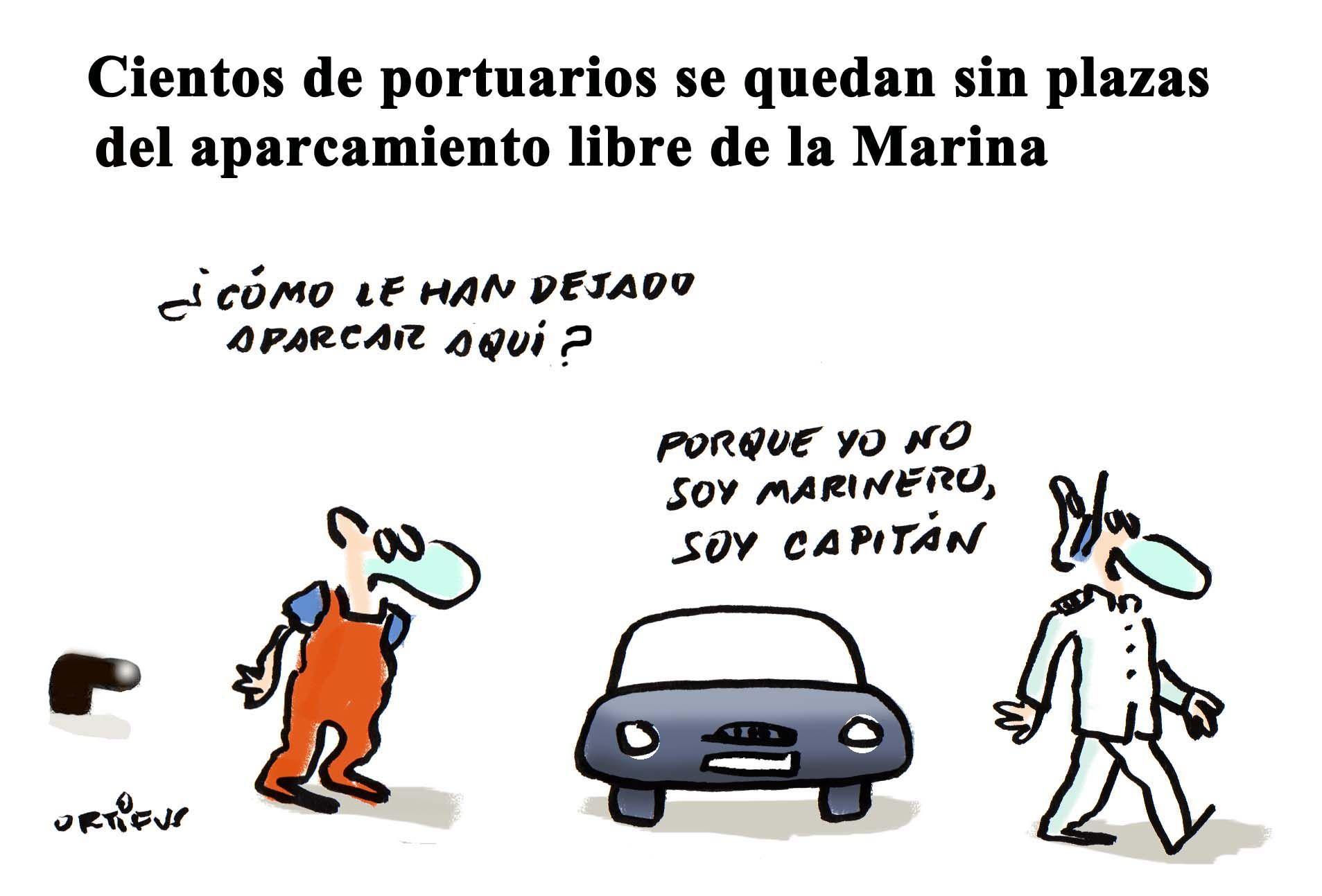 Cientos de portuarios se quedan sin plazas del aparcamiento libre de la Marina