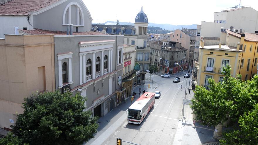 Reducció de dos a un carril de circulació a la Muralla entre Guimerà i Passeig per unes obres
