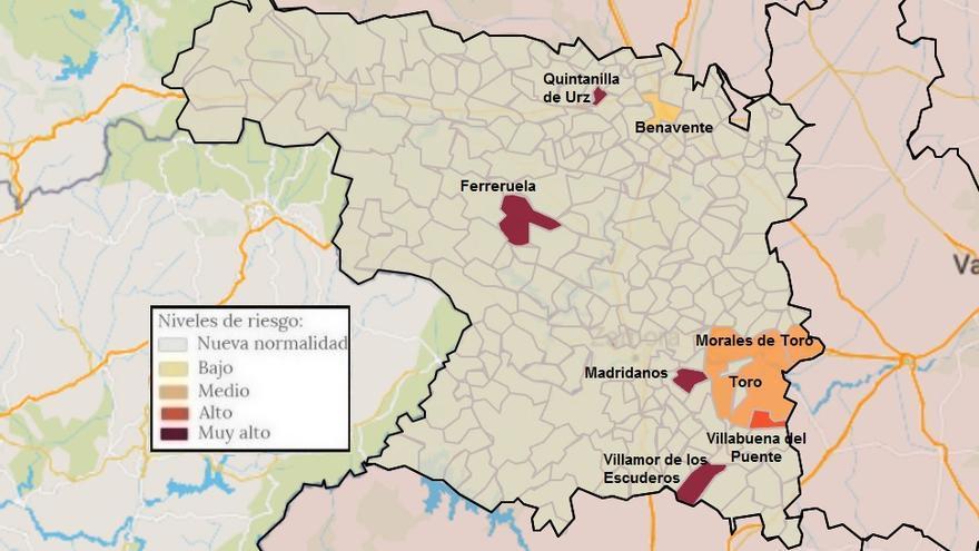 Mapa de coronavirus de Zamora, hoy, martes | La capital vuelve a tener casos, tras un día a cero