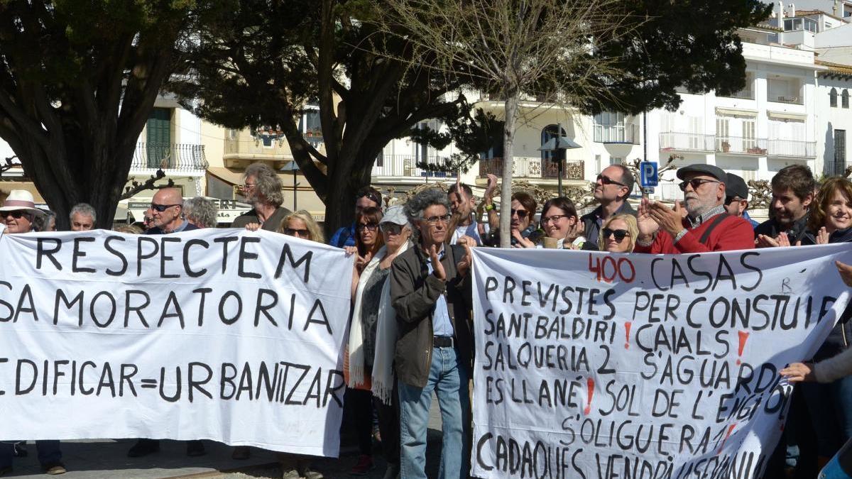 Manifestació ciutadana contra la urbanització Sa Guarda.