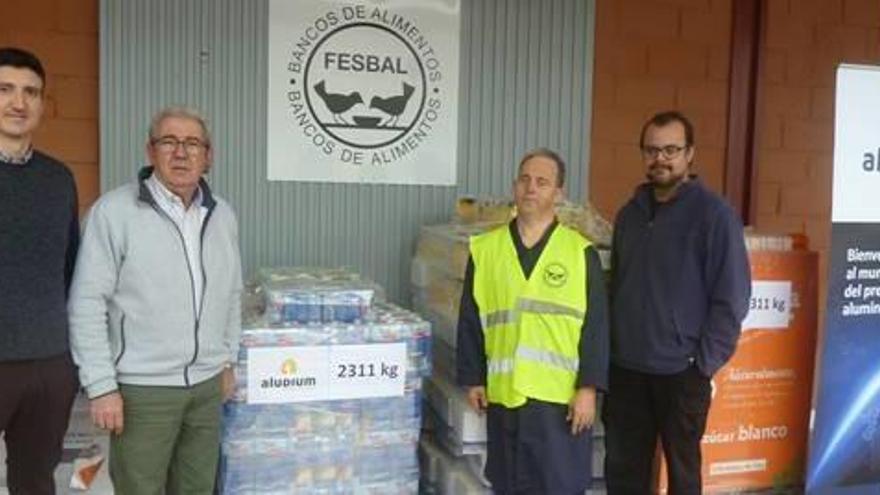 Aludium entrega 2.311 kilos al Banco de Alimentos