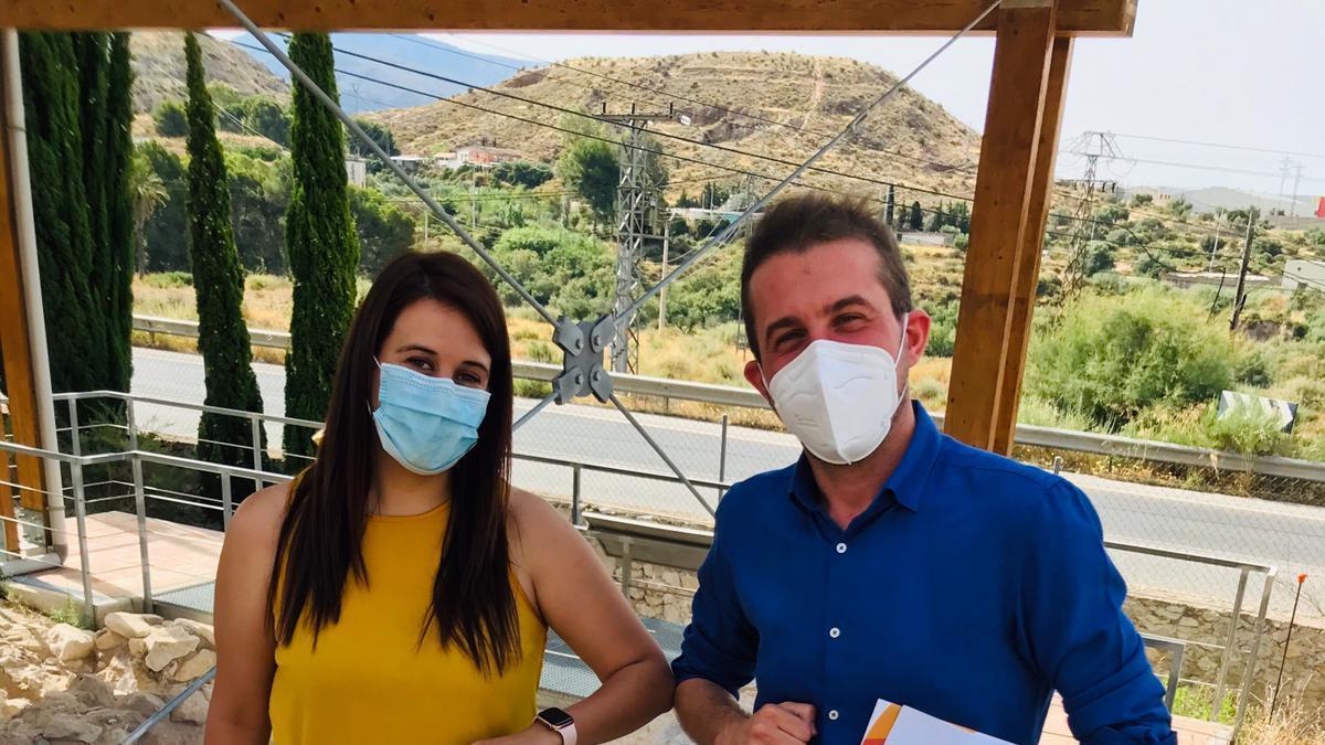 Los concejales de Elda y Petrer, Lorena Pedrero y David Morcillo