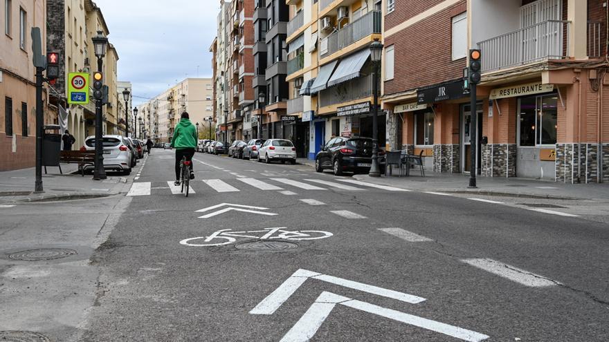 Las dos nuevas ciclocalles de València