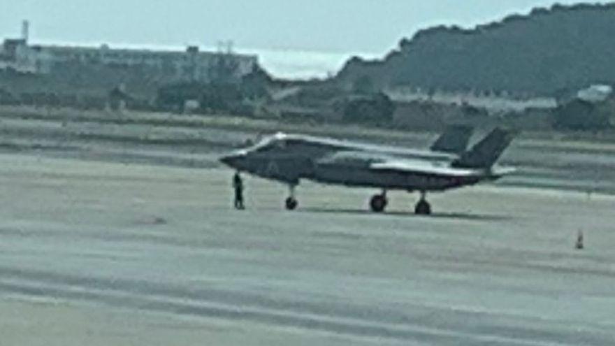 El caza F35 que aterrizó de emergencia en Ibiza cuesta más de 100 millones de dólares