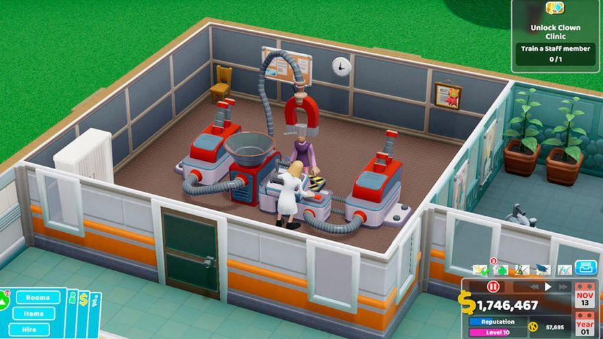 'Two Point Hospital' se pasará a las consolas.